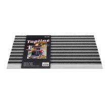 TopLine-Borstelmat-Zwart 50 x 80 cm