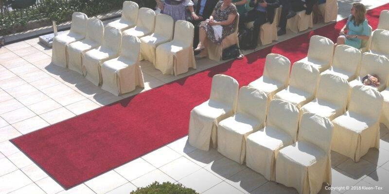 Rode loper bruiloft