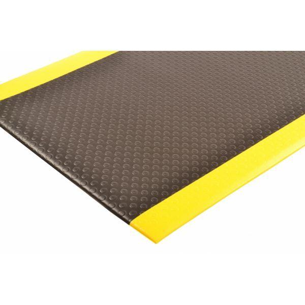 Ergonomische mat zwart geel met bubbel patroon