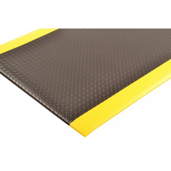 Diamond Sof Tred ergonomische mat vinylschuim zwart geel