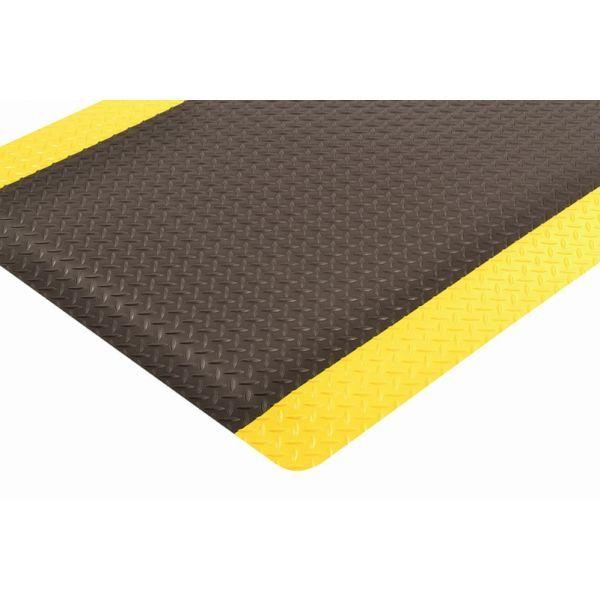 Cushion Trax ergonomische mat vinylschuim pvc toplaag zwart geel