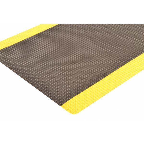 Sky Trax argonomische mat vinylschuim pvc redstop zwart geel bubbel patroon